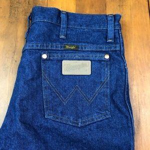 Vintage Wrangler Blue Jeans Dark Wash Ranch Rodeo